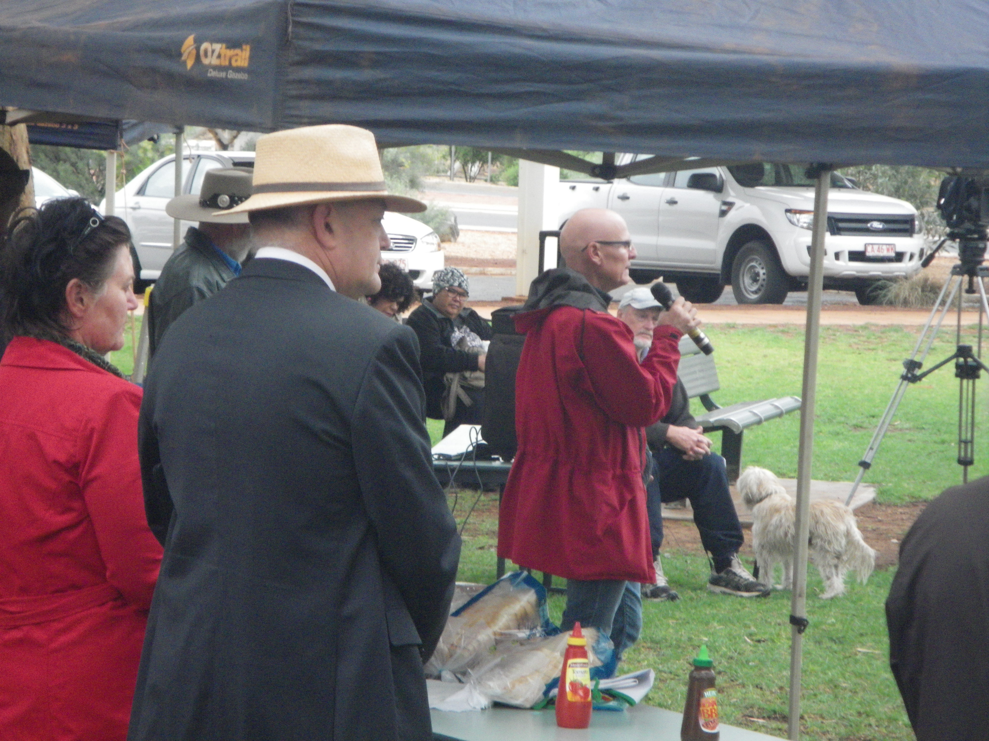 Dr. John Boffa and PAAC supporters including Wuppy the dog